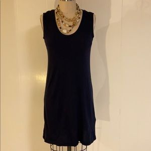 Banana Republic jersey knit navy dress